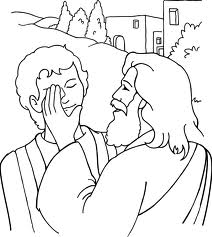 jesus sana a un CIEGO colouring pages